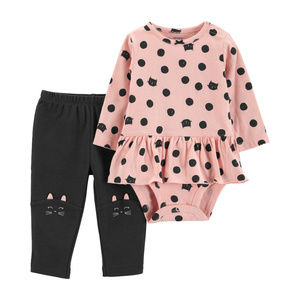 New Carters Baby Girl Bodysuit & Pants Set Clothes